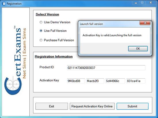 Certexams.com Network Simulator activtion