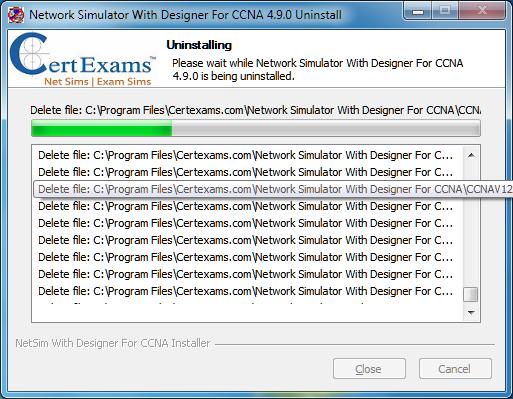 Certexams.com Network sim uninstall procedure
