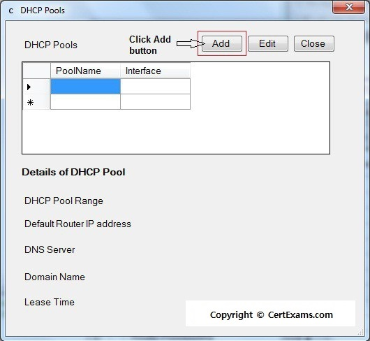 Network simulator lab cisco router as dhcp server for Cisco show pool dhcp